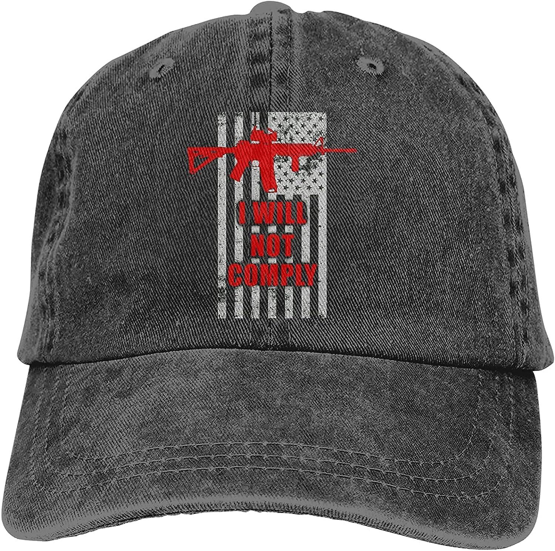 I Will Austin Mall Not Comply Sports Louisville-Jefferson County Mall Baseball Trucker Adjus Cap Washable Hat