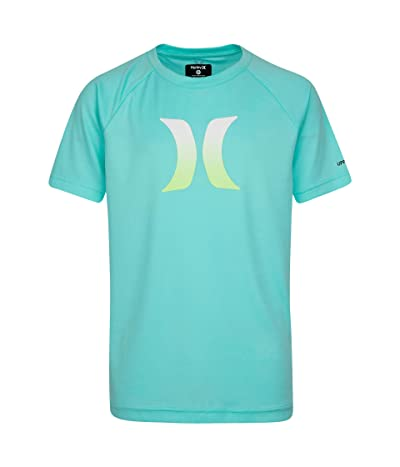 Hurley Kids Ombre Icon UPF Shirt (Big Kids) (Aurora Green) Boy