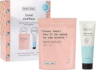 Frank Body Iced Coffee Kit   Original Coffee Body Scrub & Snow Scrub   Exfoliating Skin Care For Dry, Dull Skin   Hydratin...