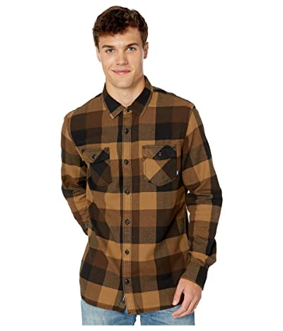 Vans Box Long Sleeve Flannel (Black/Dirt) Men