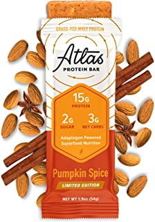 Sponsored Ad - Atlas Bar - Keto Protein Bars, Pumpkin Spice - High Protein, Low Sugar, Low Carb, Grass Fed Whey, Healthy P...