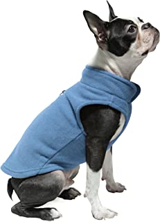 Gooby - Fleece Vest, Small Dog Pullover Fleece Jacket with Leash Ring