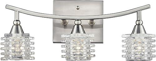 wholesale Elk 2021 Lighting 17131/3 outlet online sale Matrix Three Light Bath Bar, Satin Nickel sale
