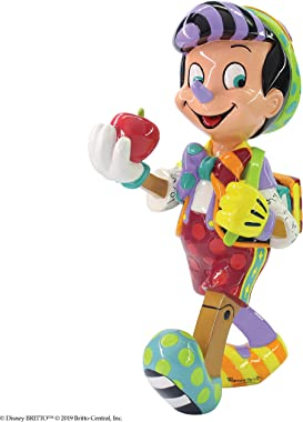 Enesco Disney by Britto Pinocchio 80th Anniversary Figurine, 8.11 Inch, Multicolor