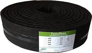 Hanes Geo Components 32431 TerraDrain Strip Drain, 6-Inch x 50-Feet
