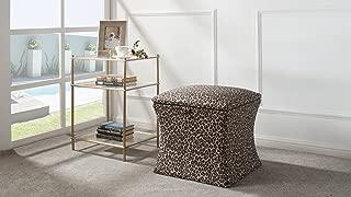 Jennifer Taylor Home Holly Storage Ottoman, Leopard