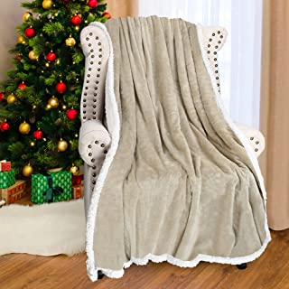 Catalonia Sherpa Fleece Throw Blanket,Super Soft Mink Plush Couch Blanket,TV Bed Fuzzy Blanket,Fluffy Comfy Warm Heavy Throws,Comfort Caring Gift,50x60 inches