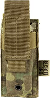 OneTigris Tactical Molle Single Pistol Mag Pouch EDC Organizer Pouch EMT Mini Scissor Tool Pouch