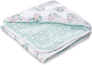 Aden by aden + anais Dream Blanket | Muslin Baby Blankets for Girls & Boys | Ideal Lightweight Newborn Nursery & Crib Blanket | Unisex Toddler & Infant Bedding | Shower & Registry Gift, Briar Rose