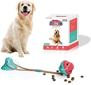 CPFK Dog Chew Suction Cup Tug of War Toy Multifunction Interactive Pet Aggressive Chewers Rope Puzzle Toothbrush Molar Bit...
