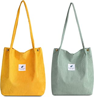 Makukke Umhängetasche Damen - 2pcs Cord Tasche Damen Schultertasche Shopper Damen henkeltasche für Alltag, Büro, Schulausf...