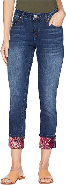 Carter Girlfriend Jeans w/ Velvet Hem in Bucket Blue