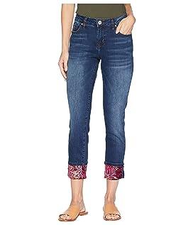 Carter Girlfriend Jeans w/ Velvet Hem in Bucket Blue