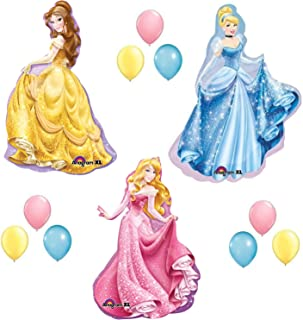 DISNEY PRINCESS BALLOONS SET sleeping beauty belle cinderella party birthday by Lgp