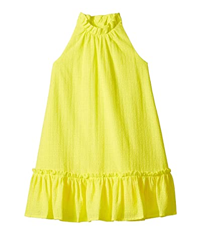 Janie and Jack Sleeveless Eyelet Dress (Toddler/Little Kids/Big Kids) (Neon Yellow) Girl