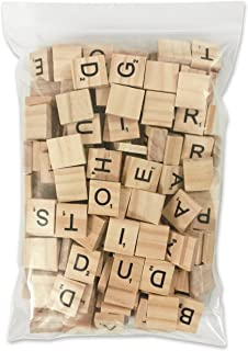 PERRIROCK 200 Pcs Scrabble Letters - 2 Complete Sets - Wood Tiles - Great for Crafts, Letter Tiles, Spelling by Clever Delights