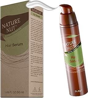 Hair Serum Moisturizer for Frizzy Hair - Anti Frizz Hair Gloss Serum Split End Repair Treatment for Dry Damaged Hair with 5 Nut Hydration Formula