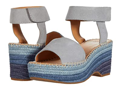 FRYE AND CO. Amber Espadrille Wedge (Ice Blue Suede) Women