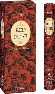 بخور گل رز قرمز HEM - بسته 6 عددی - 120 عددی - 301 گرم