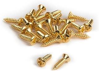 Golden Age Pickguard Screws for Fender, Gold - 25 pack