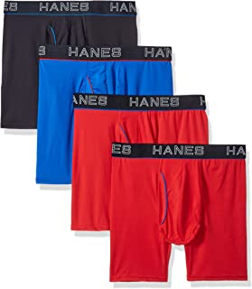 Men's Comfort Flex Fit Ultra Lightweight Mesh Boxer Brief , Assorted Color