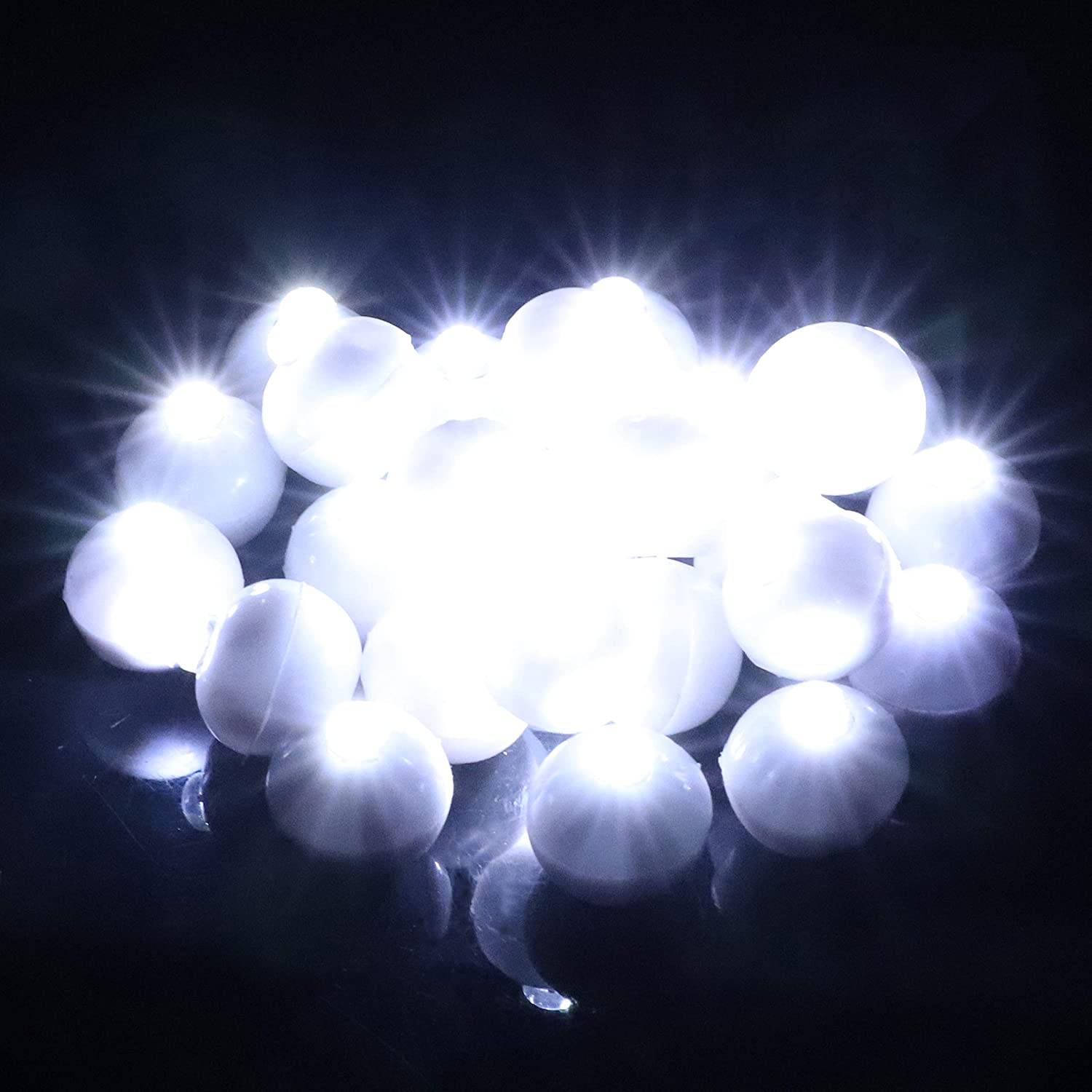 100pcs//lot Round Led Flash Ball Lamp LED Light up Balloon Lights long standby time for Paper Lantern Balloon Light Birthday Party Wedding Decoration,100 Pcs Colorful White Case Update Version