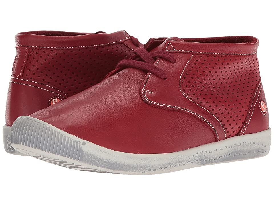 FLY LONDON INK445SOF (Red Smooth Leather) Women