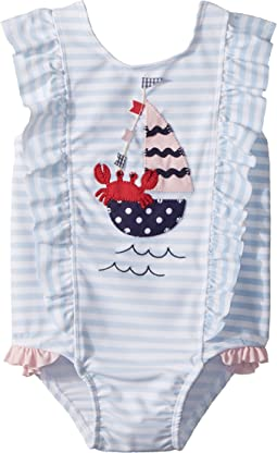 Sail Away Ruffle One-Piece Swimsuit (Toddler)