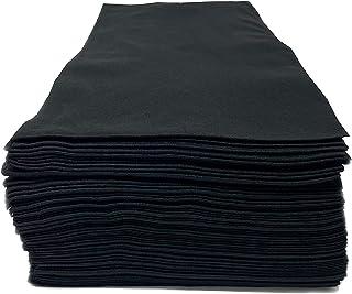 Toallas de salón desechables, lisas negras, fibra de viscosa natural 100% biodegradable, belleza, peluquería, peluquería, ...
