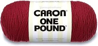Caron  One Pound Solids Yarn - (4) Medium Gauge 100% Acrylic - 16 oz -  Country Rose- For Crochet, Knitting & Crafting