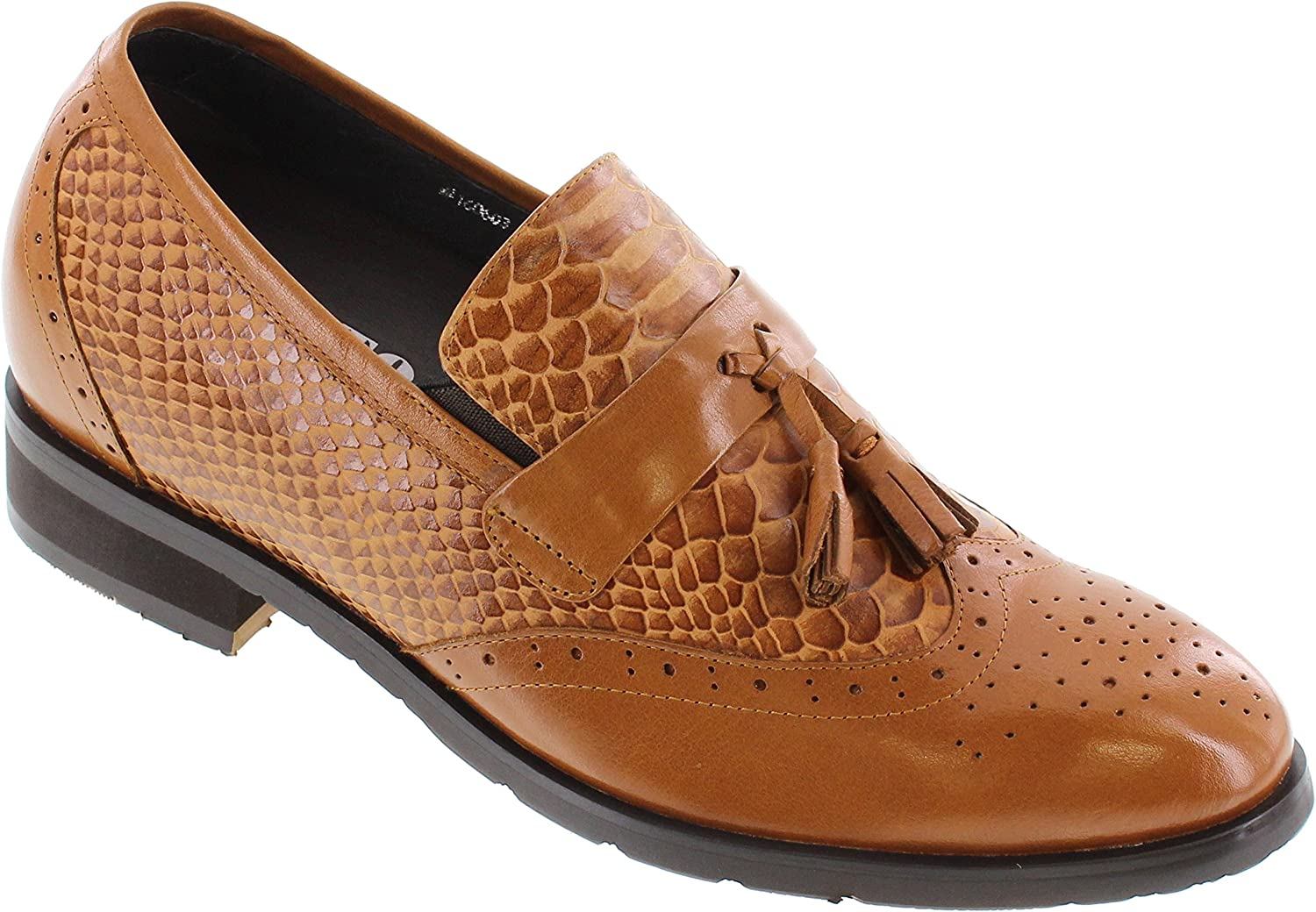 TOTO Men's Invisible Height Increasing Shoes Tw Elevator Fresno store Mall - Brown