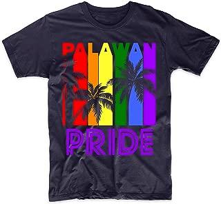 Palawan Pride Gay Pride LGBTQ Rainbow Palm Trees T-Shirt