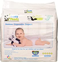 Eco Friendly Premium Bamboo Disposable Diapers by Andy Pandy - Small - for Babies Weighing 6-16 lbs - Small (Pack of 94)