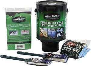 Liquid Rubber Waterproof Sealant Kit, Black, 1 Gallon