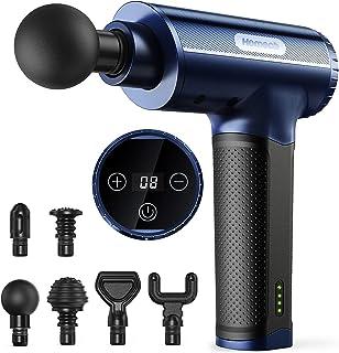 Homech Massage Gun Deep Tissue Massager Handheld Muscle Soreness Relief Massager with High-Torque Motor 20 Speeds 6 Replac...