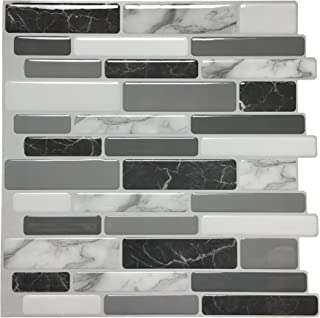 "Art3d Peel and Stick Wall Tile for Kitchen Backsplash, 12""x12"", (10 Tiles)"