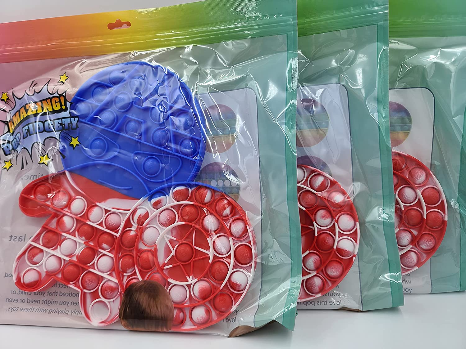 Ohio Trading 3 Pack of Huge Max 64% OFF America Captain Fidget Max 87% OFF Shaped Popper