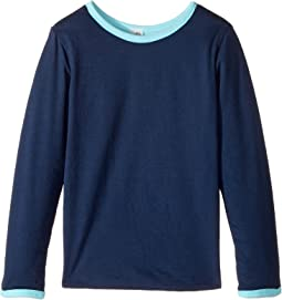 Four-Way Reversible Long Sleeve Scoop Jersey Top (Little Kids/Big Kids)