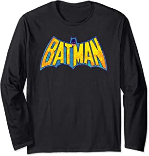 Batman Neon Distress Logo Longsleeve T Shirt Long Sleeve T-Shirt