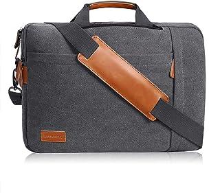 17.3 Inch Laptop Messenger Bag, Water Resistant 3 in 1 Convertible Backpack Canvas Shoulder Bag Briefcase for Men Women