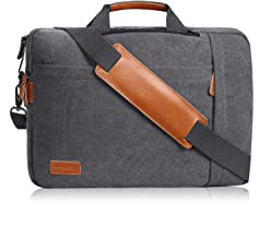 Estarer Konvertierbare Laptop-Umhängetasche, wasserabweisend, 3-in-1-Rucksack, 17,3 Zoll 43,8 cm, Segeltuch, Umhängetasche, Aktentasche für Damen oder Herren