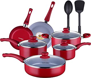 Best red ceramic pots and pans Reviews