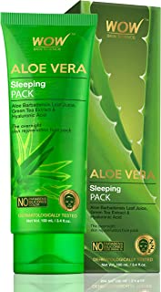 WOW Skin Science Aloe Vera with Green Tea Extract and Hyaluronic Acid Sleeping Pack - 100 mL