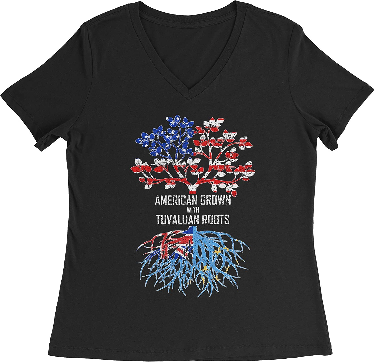HARD EDGE DESIGN Women's American Grown with Tuvaluan Roots T-Shirt