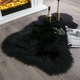 red faux fur rug