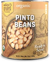 Nature's Greatest Foods, Organic Pinto Beans, Bulk, Ready to Serve, No. 10 Can, 110..