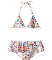 Seafolly Kids - Seaside Lane Triangle Bikini (Infant/Toddler/Little Kids)