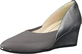 Cole Haan Women's Grand Ambition Sport Wedge (75MM) Pump, Strmcld M.Neo &M.RUBB Rand/A.Silv.Met Tumble Leather/black web/B...