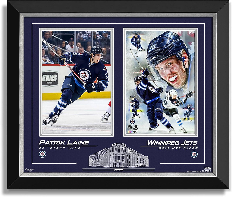 Patrick Laine Framed Collector Photos, Ltd Edition 129 129  Winnipeg Jets