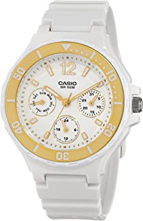 Casio Women's LRW250H-9A1 Gold Bezel Watch